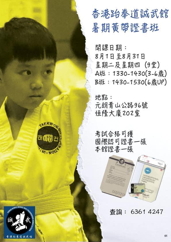 元朗區暑期跆拳道證書班